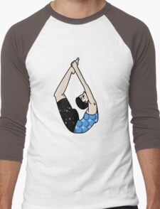 Bow Pose Men's Baseball ¾ T-Shirt