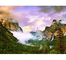 Clearing Storm over Yosemite Valley Photographic Print