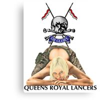 Queens Royal Lancers Canvas Print