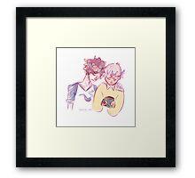 Johnlock Flowerboys Framed Print