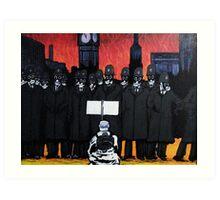 Panic on the streets of london Art Print