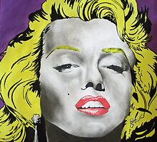 Marilyn Monroe secondary observational- Mixed media by ASchofieldPhoto