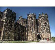 Alnwick Castle Gate Photographic Print