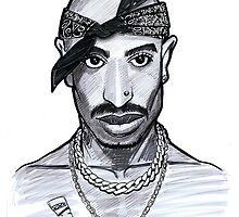 Caricature - TuPac by Jan Szymczuk