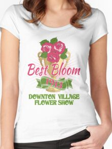 Downton Abbey Inspired - Downton Village Flower Show - Best Bloom - Grantham Cup Trophy Women's Fitted Scoop T-Shirt