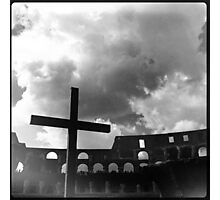 Colosseum Cross  Photographic Print