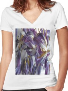 Tulips 1 Women's Fitted V-Neck T-Shirt