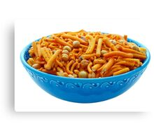Bombay Mix in Blue Bowl Canvas Print