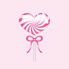 Pink Heart Lollipop by destei