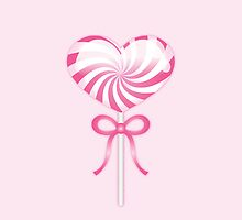 Pink Heart Lollipop by destei