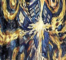 Van Gogh's TARDIS Painting by crowliey
