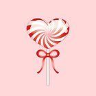 Red Heart Lollipop by destei