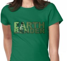 Earthbender Font with Bolin Womens Fitted T-Shirt