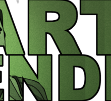 Earthbender Font with Bolin Sticker