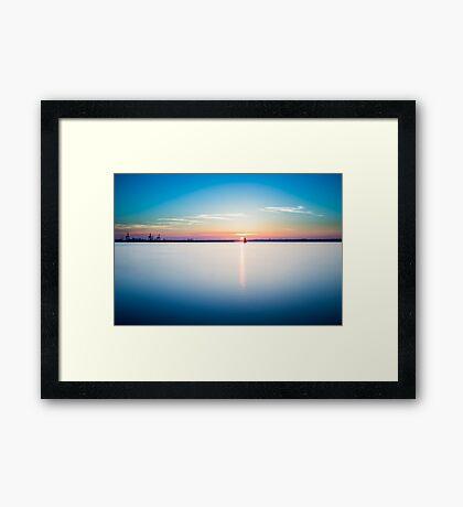 Sunset in Dublin  Framed Print