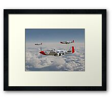 P51 Mustang - 334th Fighting Eagles Framed Print