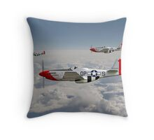 P51 Mustang - 334th Fighting Eagles Throw Pillow