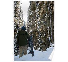 Snowboarder - Banff, Alberta, Canada Poster