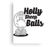 Holly Sheep Balls Canvas Print