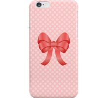 Cute Red Bow iPhone Case/Skin