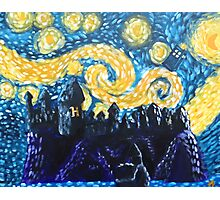 Dr Who Hogwarts Starry Night Photographic Print