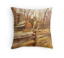 Cades  Cove - Old Settlement Throw Pillow
