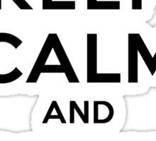 Keep Calm and Climb Mountains(LS) Sticker