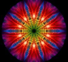 Fire Streaks Kaleidoscope 02 by fantasytripp
