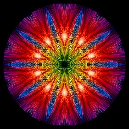 Fire Streaks Kaleidoscope 02 by fantasytripp