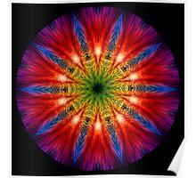 Fire Streaks Kaleidoscope 02 Poster