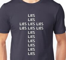 LIE on the Cross by Tai's Tees Unisex T-Shirt