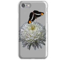 Queen Butterfly - Silver Gray iPhone Case/Skin