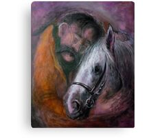 Friedrich and the horse Canvas Print