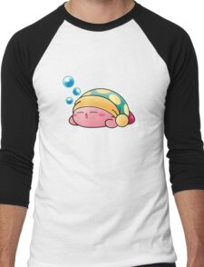 Sleeping Kirby Men's Baseball ¾ T-Shirt