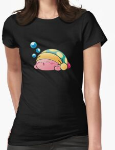 Sleeping Kirby Womens Fitted T-Shirt