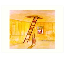 Magic Stair (illustration from the book) Art Print