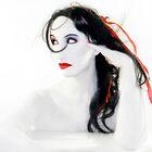 My Red Melancholy - Self Portrait by Jaeda DeWalt