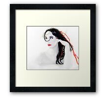 My Red Melancholy - Self Portrait Framed Print