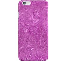 Pink Wet Liquid Abstract iPhone Case/Skin