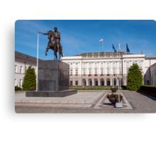 Polish Presidential Palace. Canvas Print