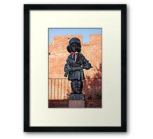 Monument of the little insurgent. Framed Print