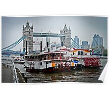 Thames River Boats 01 Poster
