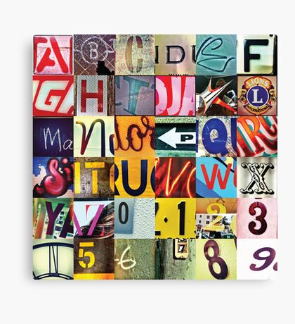Instagram Alphabet Collection #3 Canvas Print
