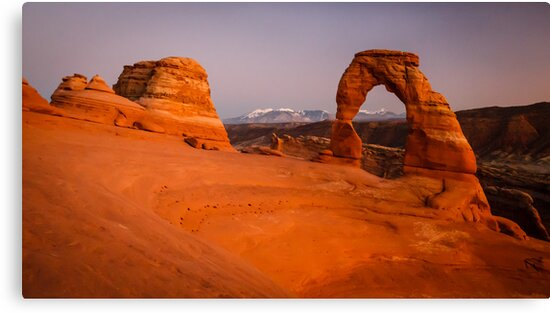 Delicate Arch after Sunset by Silken Photography