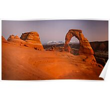 Delicate Arch after Sunset Poster