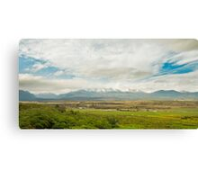 Farm and Mountains Canvas Print