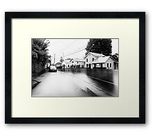Rainy Day Street Scene Framed Print