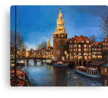 The Lights of Amsterdam Canvas Print