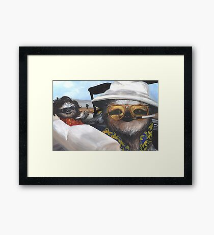Fear and Loathing in Sloth Vegas Framed Print