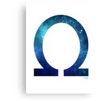 Omega letter space concept Canvas Print